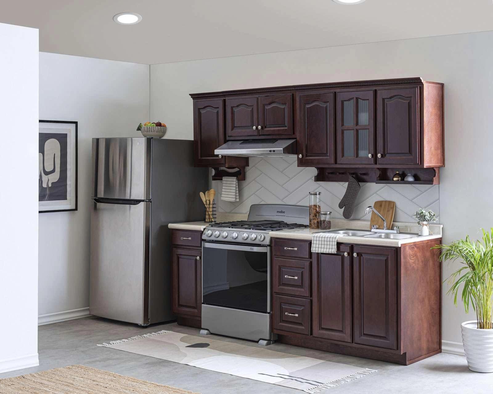 Cocina texas 240 cm con 9 puertas 3117233 coppel for Puertas cocina integral