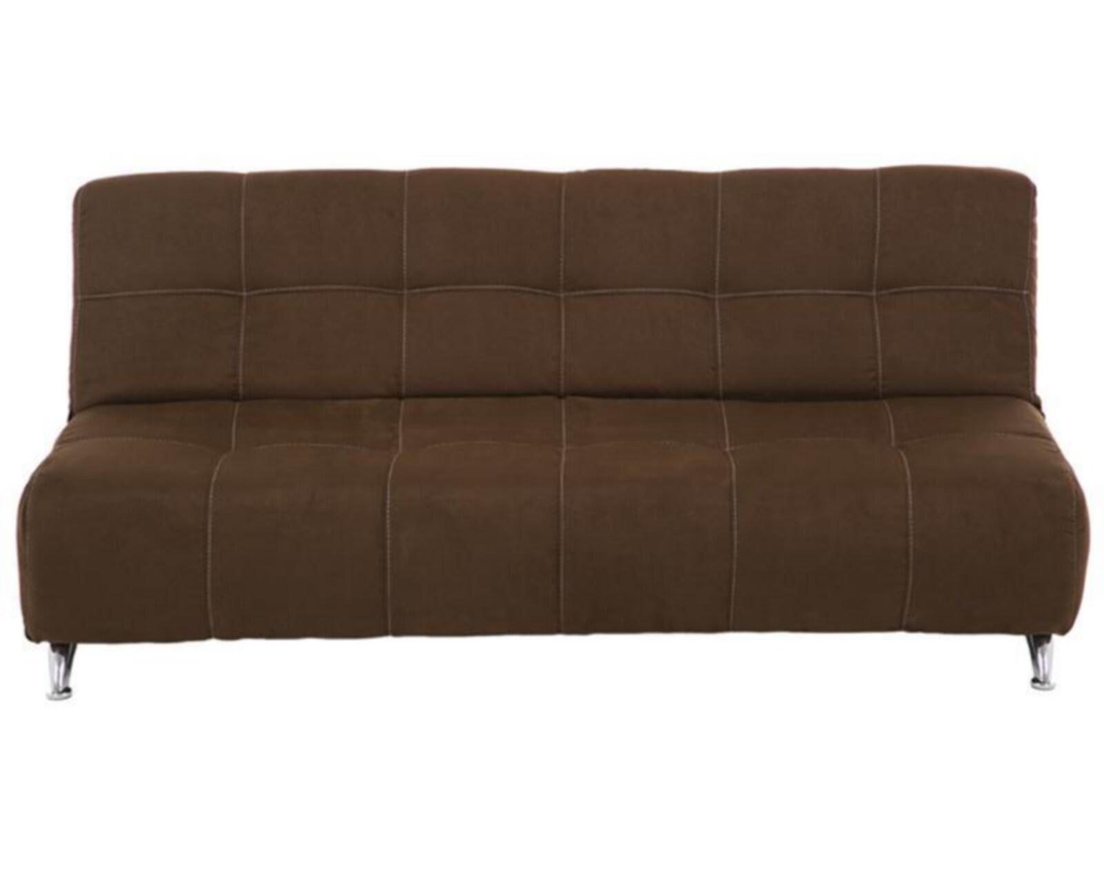 Sof cama century tapizado en suede caf 4019353 coppel for Camas en coppel