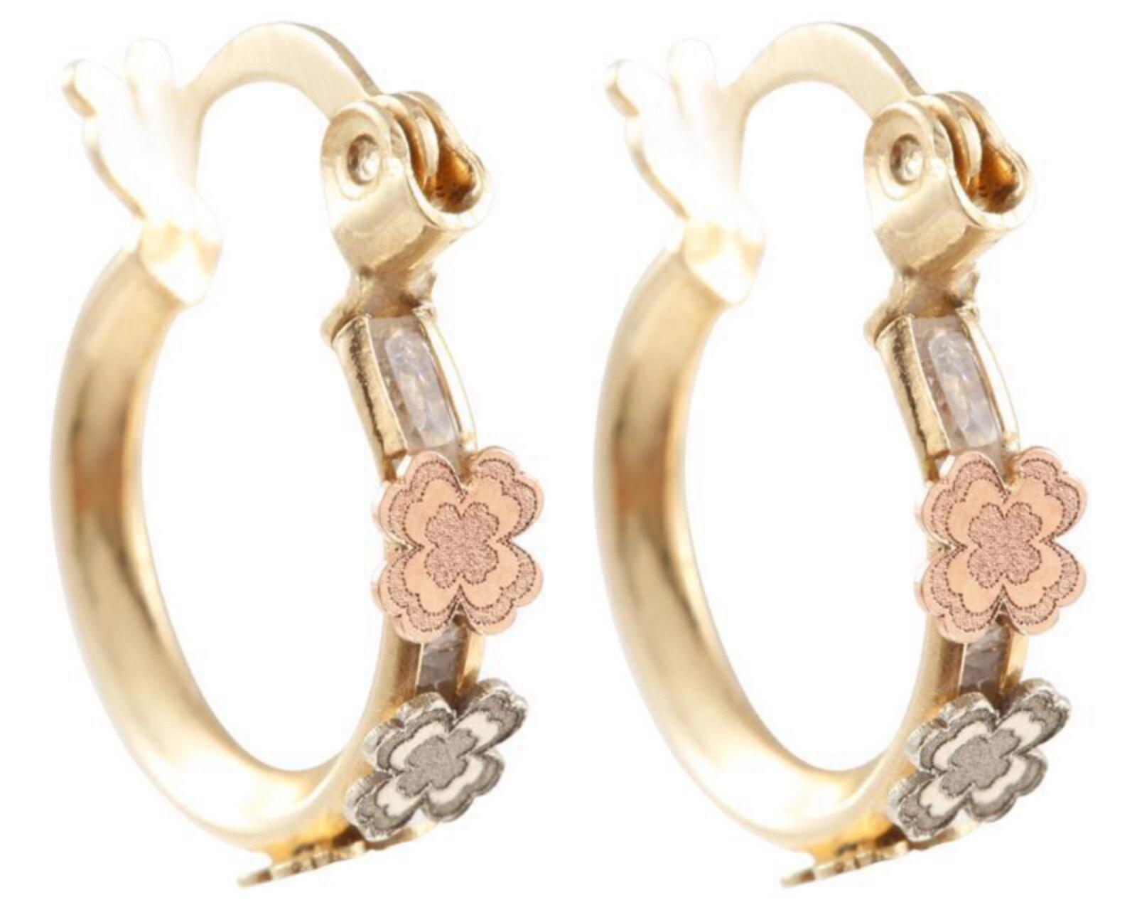 Aretes de Oro Frassinoro de 10 Quilates 8078263 | Coppel