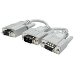Cable Y VGA Manhattan 328302 Blanco