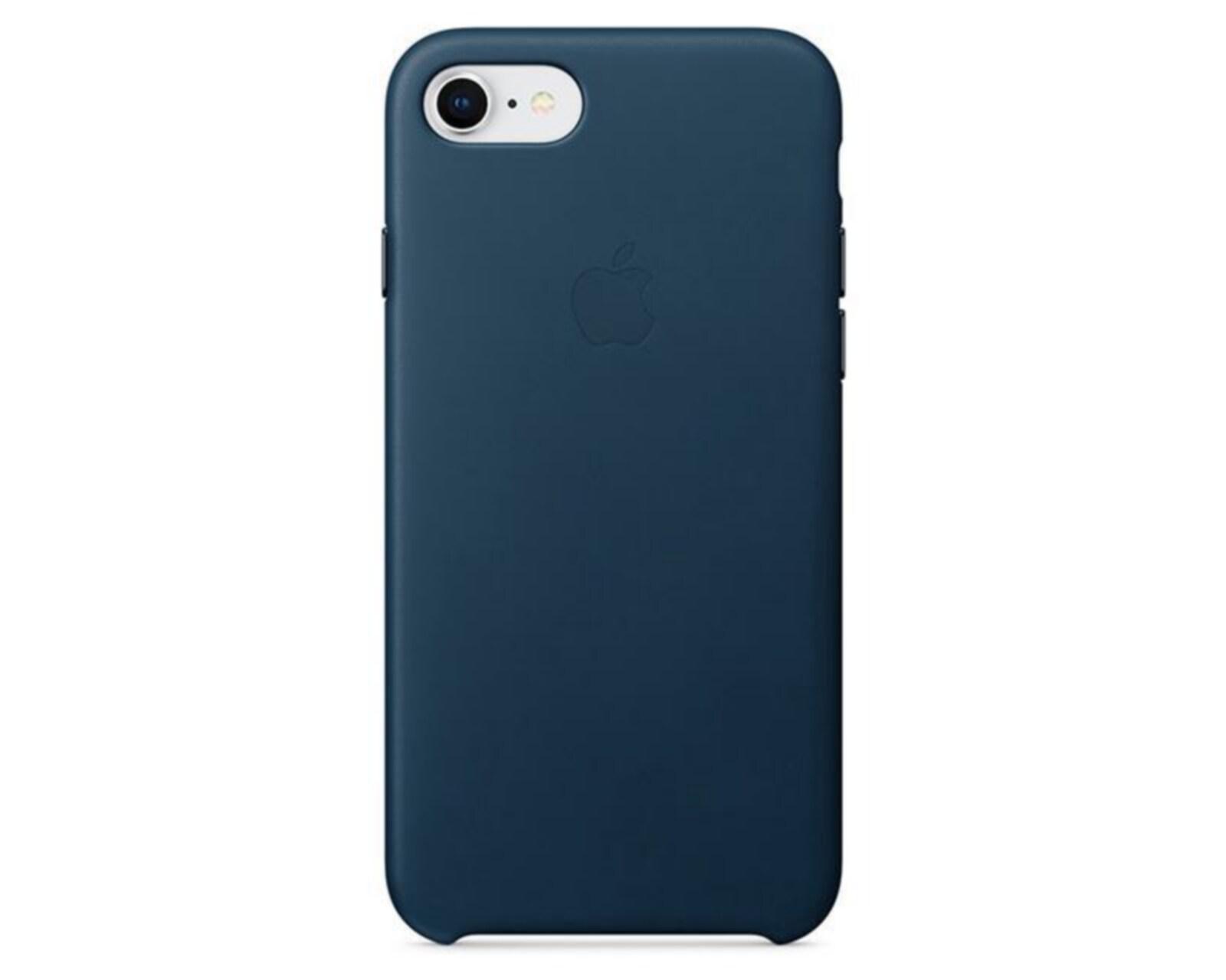 Funda de Piel para iPhone 8 / 7 Azul Cosmos