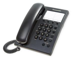 Teléfono Alámbrico Panasonic KX-TS550MEB Negro