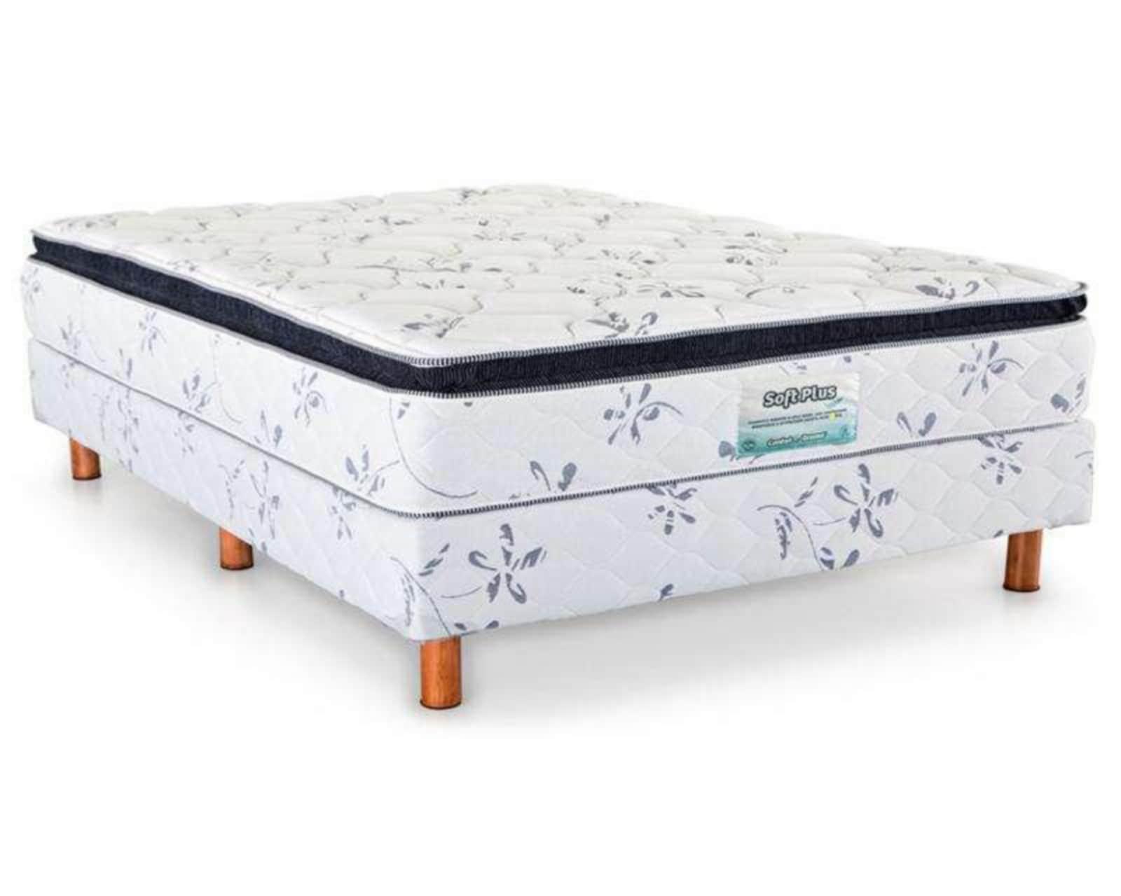 Foto 2 Juego de Colchón y Box Queen Size Comfort Dreams Soft Plus