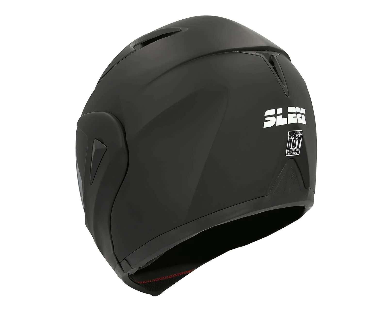 Foto 3 Casco para Motociclista Sleek Extragrande Doble Visor Negro