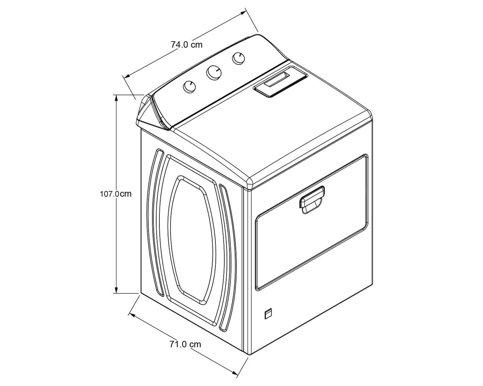 Foto 6 Secadora Whirlpool Automática 7MWGD1930JM 20 kg Blanca
