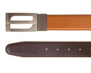 Cinturón de Vestir Café marca Wallstreet Collection para Hombre