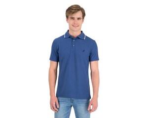 Playera tipo Polo Azul marca Refill para Hombre