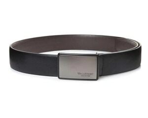 Cinturón de Vestir Negro marca Wall Street Collection para Hombre