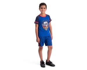 Conjunto con Short Azul marca Sportline para Niño