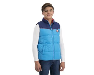 Chaleco Capitonado color Azul marca K-Swiss Juvenil
