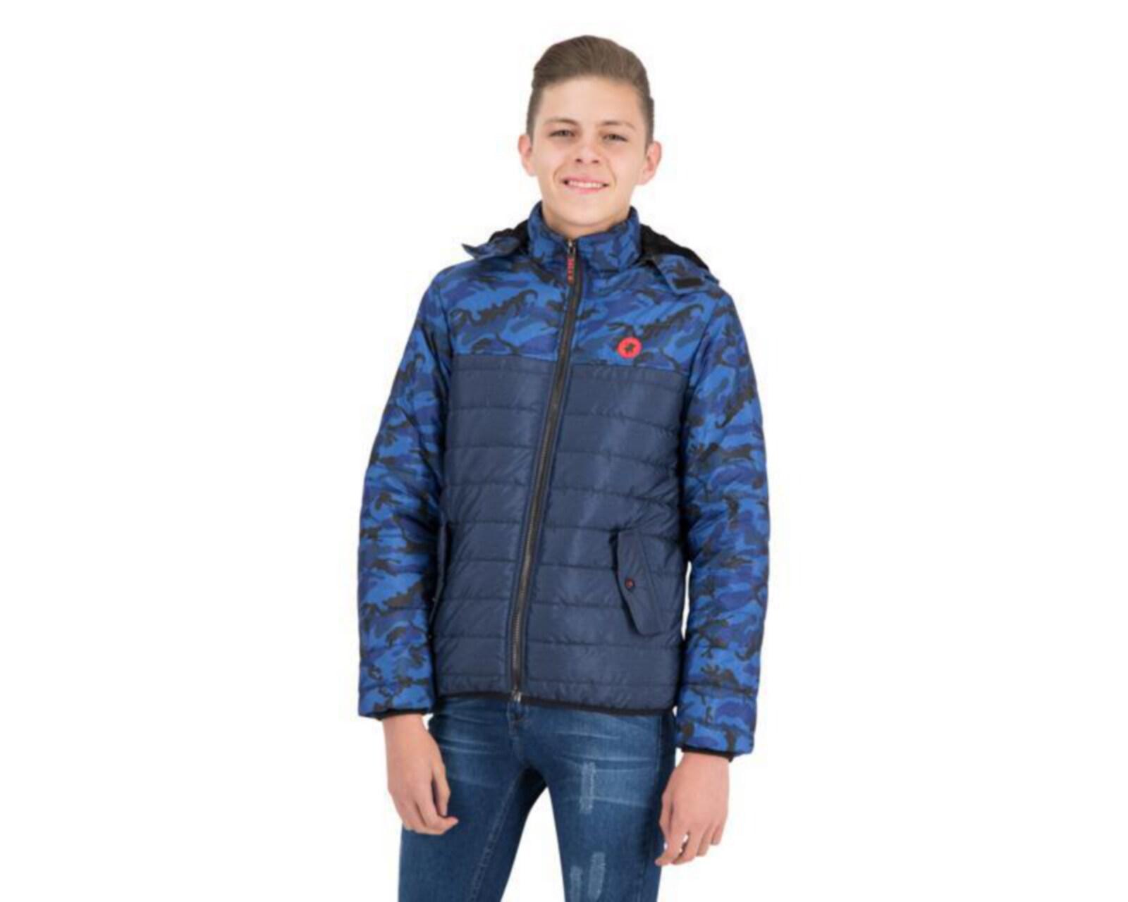 Chamarra Capitonada Azul marca York Team Polo Club Juvenil