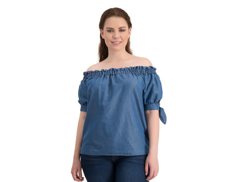 bb9020091 Blusa Azul Campesina marca Spiral para Mujer 3171832   Coppel