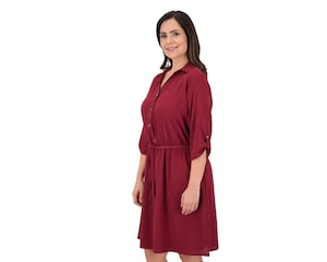Vestido Casual color Tinto marca Sahara para Mujer