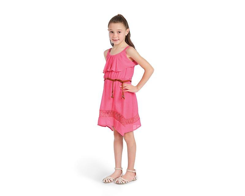 Vestido Rosa para Niña Grafito Girls