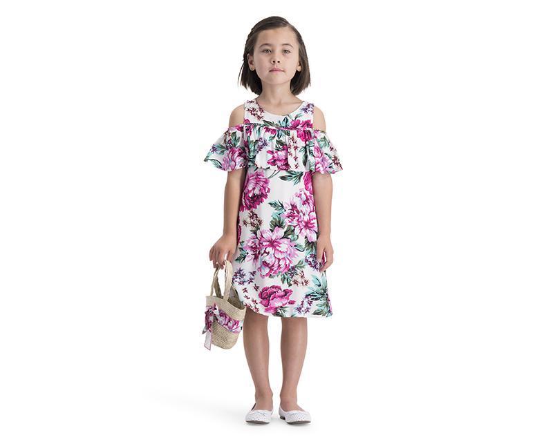 08a4ccfa Vestido Salmón para Niña Girls Attitude 4797942 | Coppel