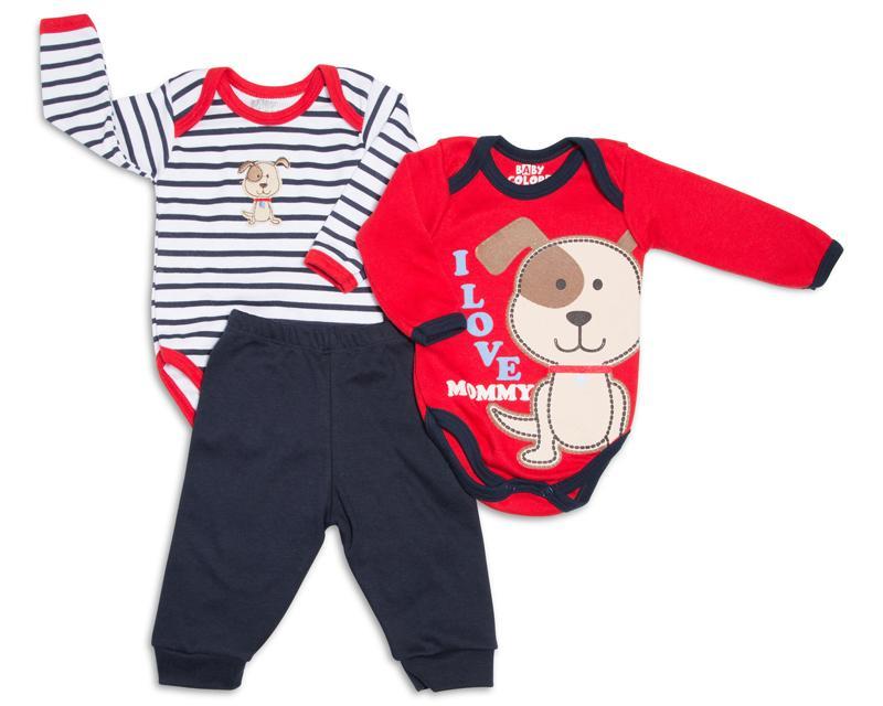 Pañaleros y Pantalón marca Baby Colors para Bebé Niño (3 Piezas)