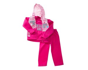 Conjunto con Chaleco Rosa para Niña Baby Colors