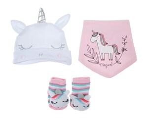 Caja de Regalo marca Baby Colors para Bebé Niña 3 Piezas