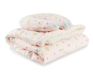Set de Almohada y Cobertor Rosa marca Baby Colors