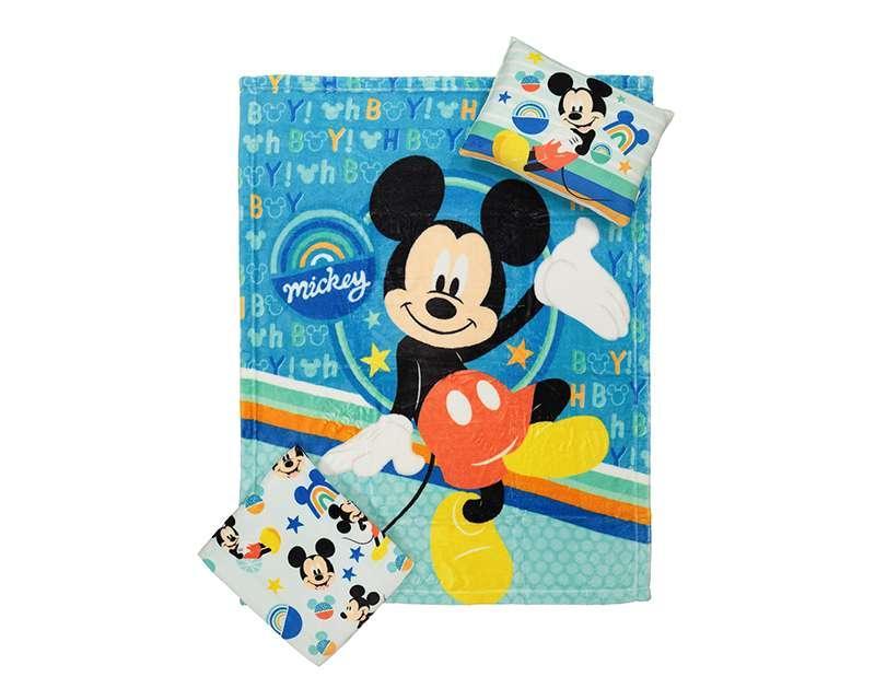 Foto 2 Cobertor y Almohada Azul marca Disney Mickey Mouse para Bebé Niño 3 Piezas