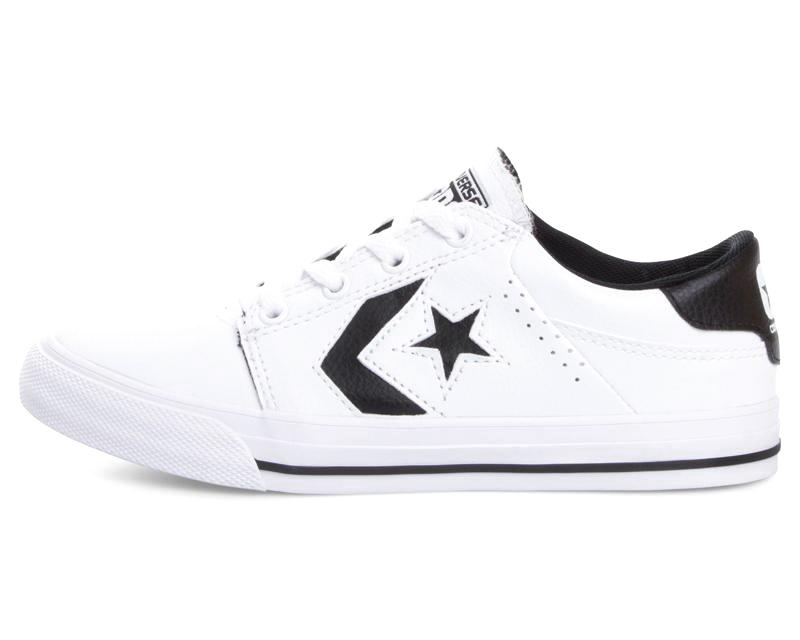 zapatos converse blancos de cuero