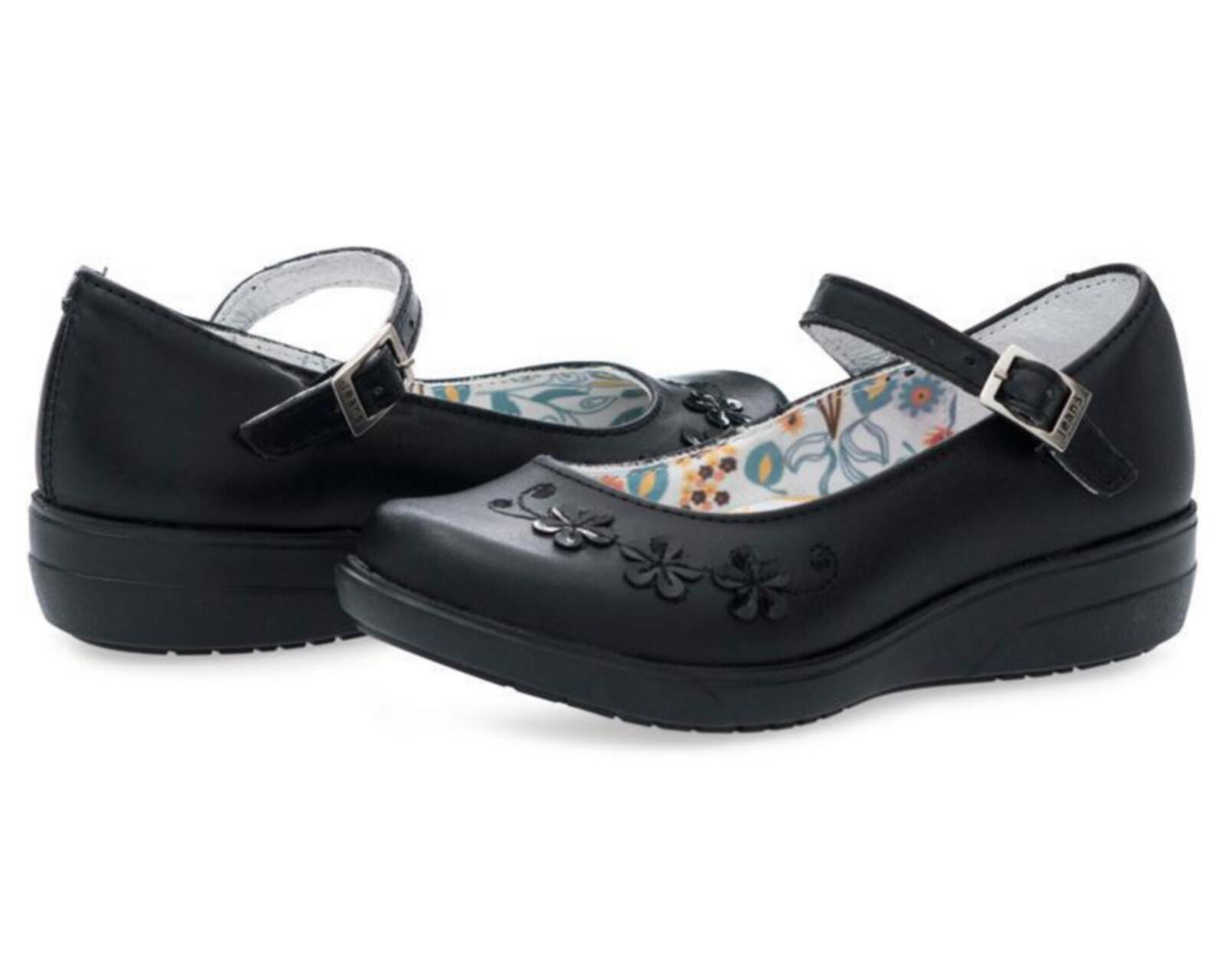 Zapatos Escolares Negros Grafito para Niña