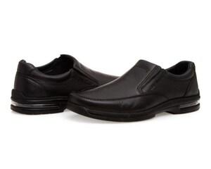 Zapatos Confort de Piel marca Flexi color negro para Hombre